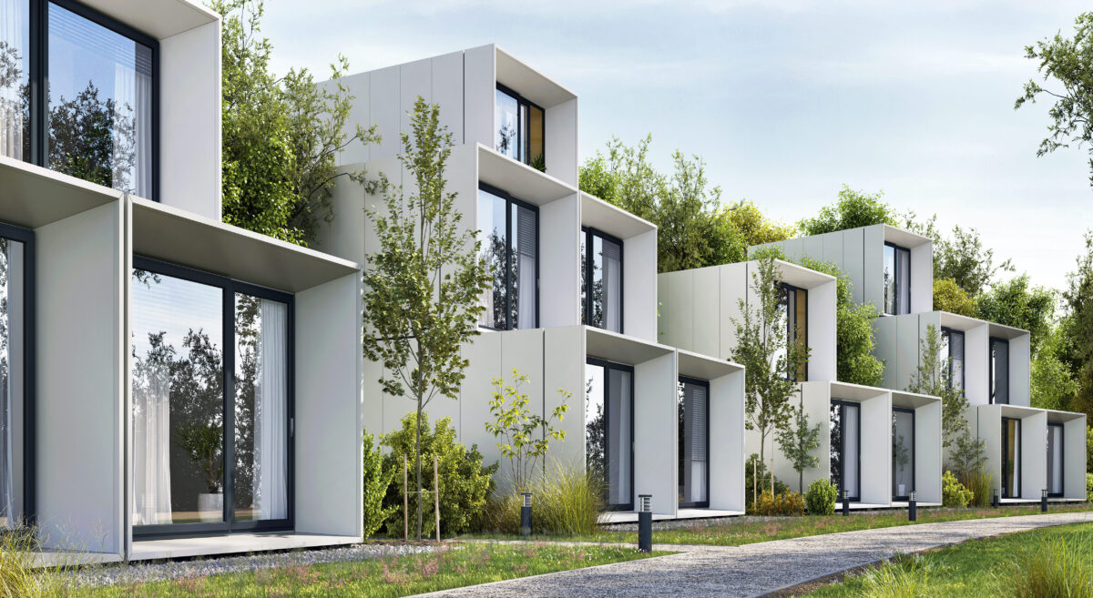 nowoczesne budynki zadbane